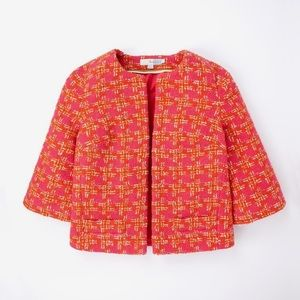 BODEN Boucle Jacket Pink & Orange XS